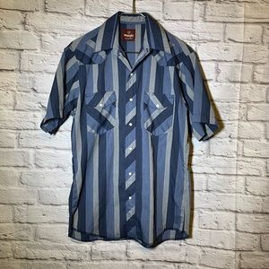 Wrangler western 15 15 1.2 snap button shirt 2848